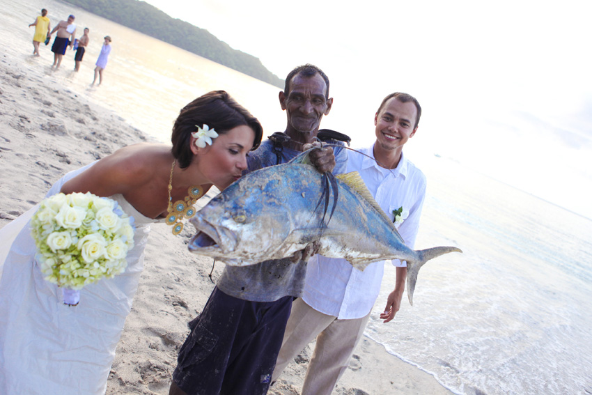 BIG fish with Bride
